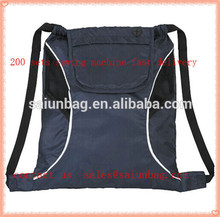 Nylon polyester drawstring backpack with shoulder straps