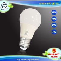 cheaper price cool white rotating barber pole energy saving e27 7w led lighting bulb 9W 12v 8w led car bulb