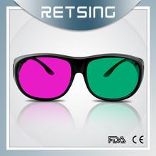 Cheap red/magenta green 3d glasses/3d eyewear plastic Factory Custom logo