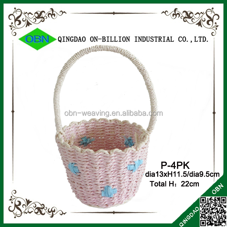 Baby Gift Baskets Empty : Colorful empty small paper baby gift basket buy