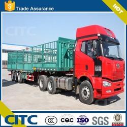 store house bar semi trailer/cargo fence semi trailer,cargo food truck trailer with FUWA 13 Ton Axle