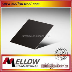 Mellow Pvc Decorative Black Mirror Sheets With 11 Years Foshan Factory