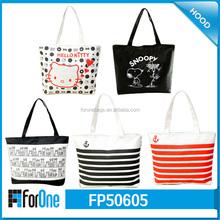 2015 HK Fair Hot Sale Custom Handled Waxed Canvas Lady Tote Bag