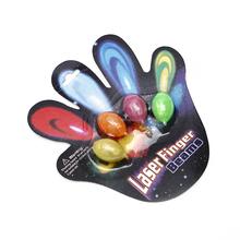 LED Finger Light-up Flashing Lamps Party Laser Beam ballon shape laser flashing rings