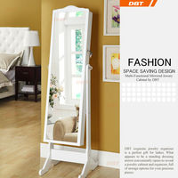 primo popular safe wooden furniture mirrored jewelry cabinet for old man wholesale
