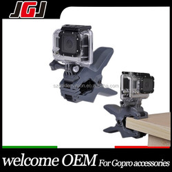 JGJ Accessories Universal Mount Desk Phone Holder Jaws Flex Clamp Clip For Gopro hero 1 2 3 3+ 4 Camera