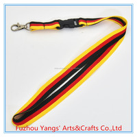 Single custom dye lanyard in three color with parts