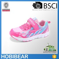 HOBIBEAR child girls flat colorful mesh sports shoe