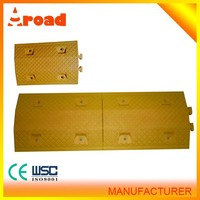 Yellow and black color plastic curbs, movable ramp