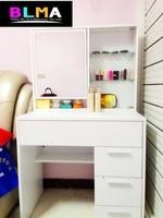 Makeup Dresser / Dressing Table Design With Mirror Wood Bedroom Furniture