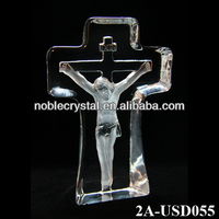 Noble New Design Crystal Carved Jesus Cross