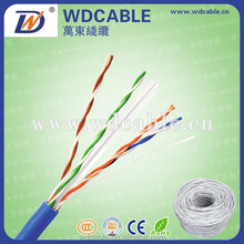 1000ft Bulk 23AWG 4 Pairs UTP Cat6 Cable With CMP(UL) Fire Retardant Cat 6 Cable Solid Bare Copper