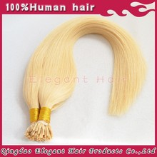 2015 hot sale blonde colour double drawn brazilian hair 2g strands i tip hair extensions