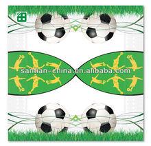 la copa mundial de fútbol personalizada impresa servilletas de papel para el carnaval