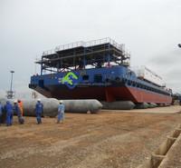 Marine airbag used as floating dock sale