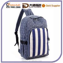 New unisex fashion canvas backpack school travel bag