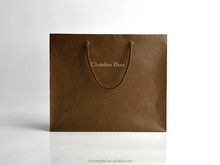Accept custom High quality custom Embossing fancy paper LOGO hodfoil stamped Luxury shopping paper bag euro tote bags SB-A002-CD