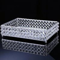 FACTORY DIRECTLY OEM design crystal cake plate for wedding with good prices