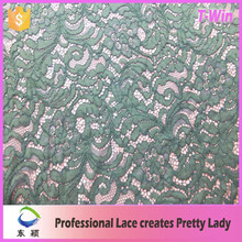 Latese net surface organic floral cording nylon lace/high quality factory supply nylon cotton lace fabric