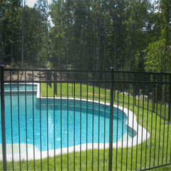Temporary swimming pool safety fencing/safety pool