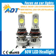 The New 5rd generation 80W 6400lm Car LED Headlight Kit 9007 HI LOW LED Conversion Lamps kit new autopart for cars