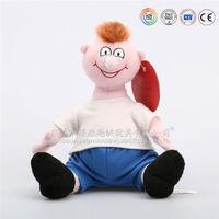 Cute stuffed soft plush baby boy doll