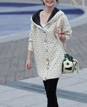 D51175J 2014 LATEST STYLE THICKEN WAVE POINT WOMEN'S LONG SWEATERS,CARDIGAN