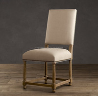 Empire parsons upholstered side chair,Sturdy hardwood frames chair,antiqued nailheads and turned legs/YJ-179