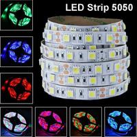 SMD 5050 5m 500cm RGB 300 LED Flexible Light Strip DC 12V waterproof