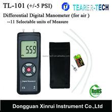 TL-100 Large LCD + / -2PSI Digital Manometer Air Pressure Meter Gauge with factory price