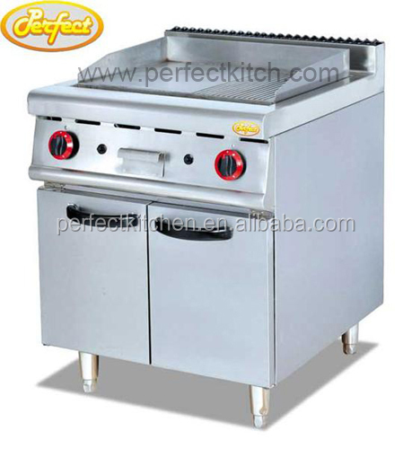 Industrial gas griddle free standing gas griddle with for Perfect kitchen equipment