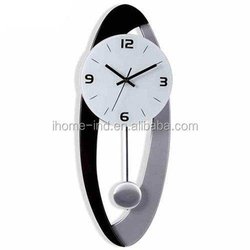 Moderne conception pendule horloge d coratif en m tal for Pendules murales decoratives
