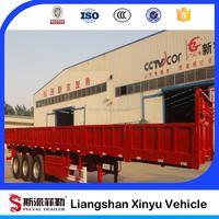 Heavy duty 13m tri axles cargo trailer truck for sale