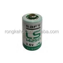 SAFT LS 14250 3.6V 1/2AA hotsale AA lithium battery
