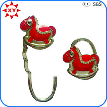 Cute Small Horse Metal Purse Hook for Table