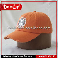 2012 NEW STYLE Washed Cap Baseball Cap Promotional Cap with Print and Flat Embroidery