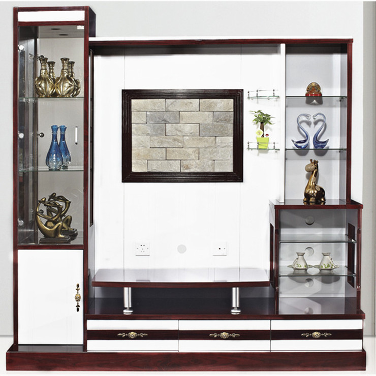 Wall Cabinet Design For Lcd : Modern wood wall panel with lcd unit home furniture