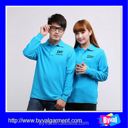 New Fashion 100%Cotton Long Sleve Couple of Polo Shirt Fast Delivery