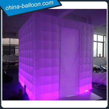 3m oxford cloth led lighting cube tent inflatable booth tent for advertising