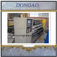 corrugated cardboard thin blade slitter scorer/carton box manufacturing machine