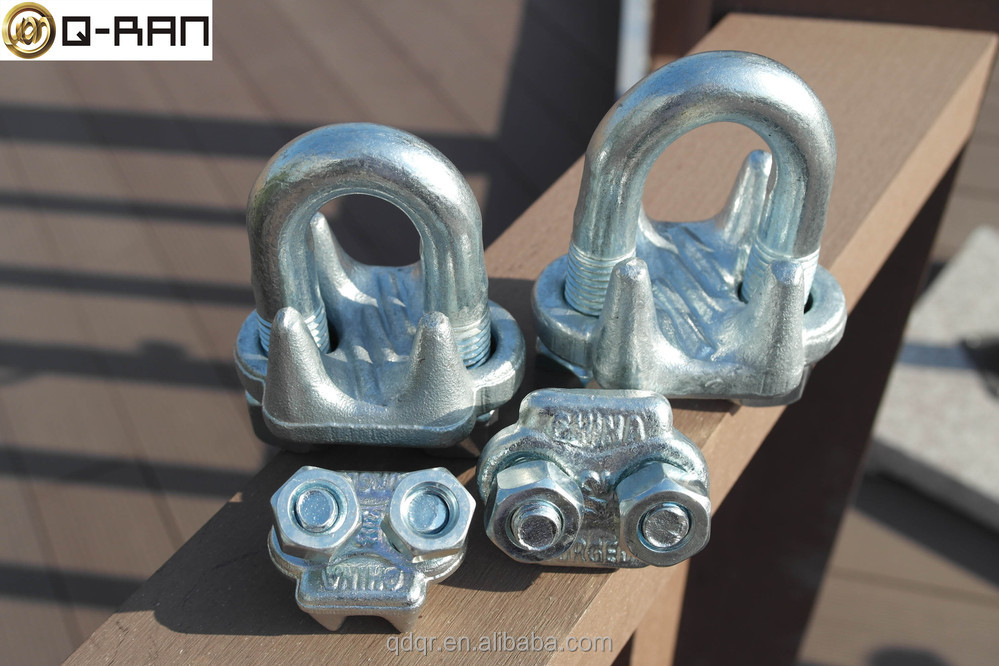 Galvanized Us Type Drop Forged Wire Rope Grip Cable Grip - Buy Wire ...