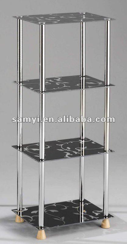Muebles de metal estante de vidrio otro mobiliario de sala - Muebles de metal ...