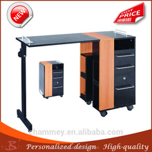laminate wood iron recommend tool manicure desks,modern metal wooden manicure table furniture