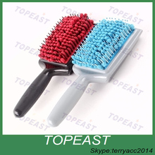 Plastic paddle hair brush for hair beauty and hair salon/paddle hairbrush/cushion hairbrush