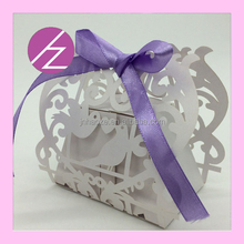 Laser Cut pearlrscent paper chocolate candy box manufacturer wedding candy box TH-142 Haoze Brand