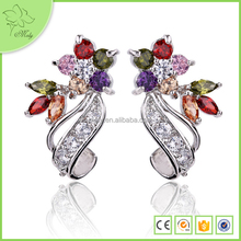 Unique Cheap Diamond Gold Plated Earrings Studs For Girls
