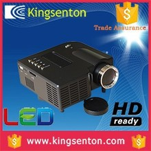hd mini led projector 3d 1080p 50 ansi lumens 320*240 resolution with HDMI, VGA, Headset, AV in, USB, SD
