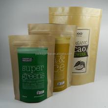 top end printed beauty make up white kraft paper packaging bag