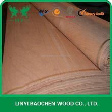 PLB Wooden Veneer 3'x7' / Linyi Logs Rotary peeling cut factory / Red face wooden veneer