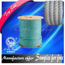 3 Strands competitive price polyamide twisted rope cruising sailing line for sale